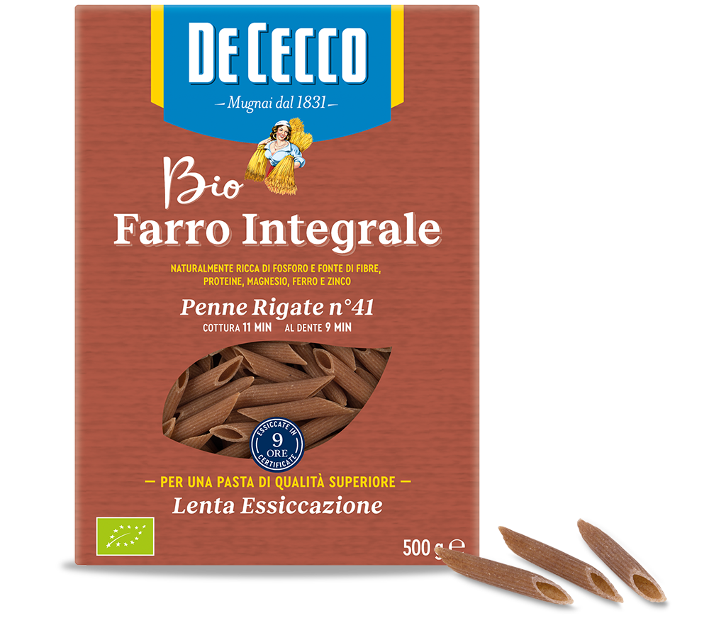 Penne Rigate n° 41 Farro Integrale Biologici