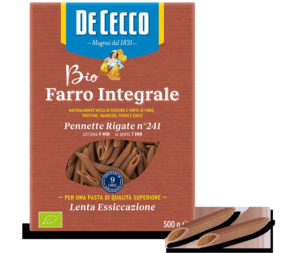 Penne Mezzane Rigate n° 241 Farro Bio Integrale