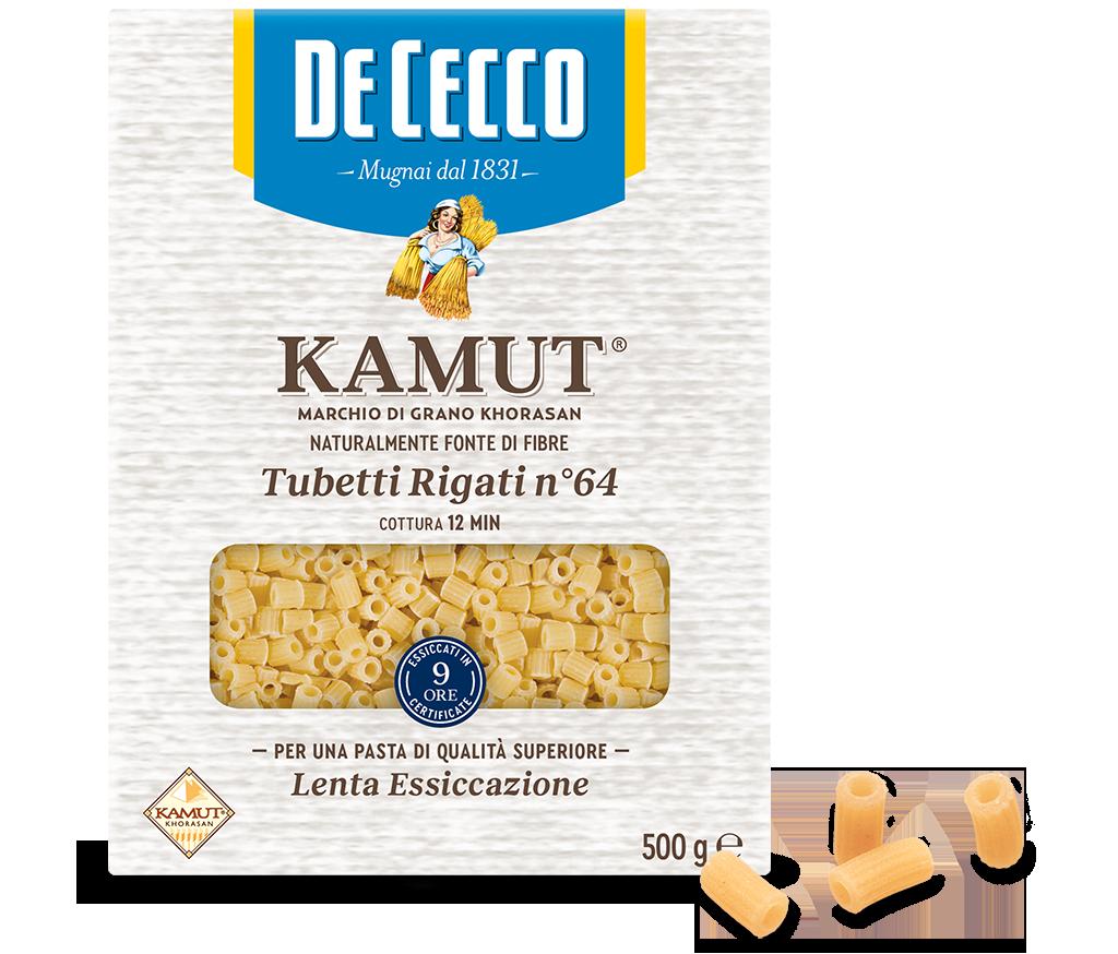 Tubetti Rigati n° 64 KAMUT® marchio di grano khorasan