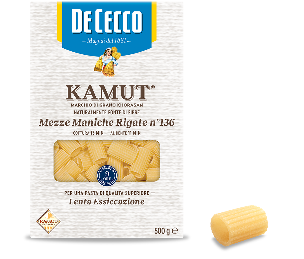 Mezze Maniche Rigate n° 136 KAMUT® marchio di grano khorasan