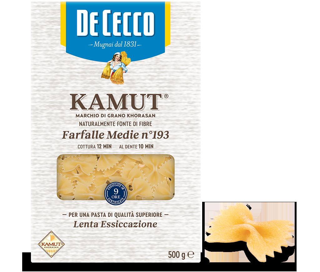 Farfalle Medie n° 193 KAMUT® marchio di grano khorasan
