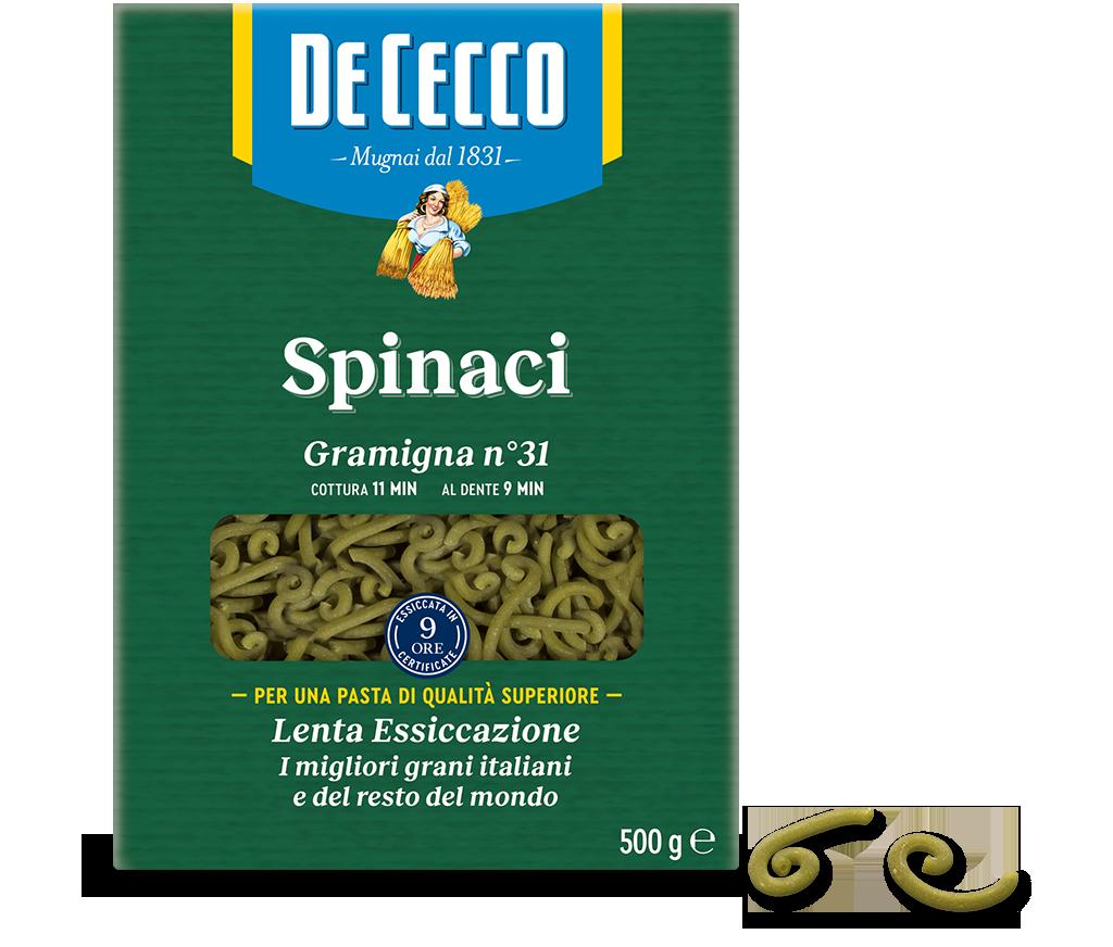 Gramigna n° 31 con spinaci