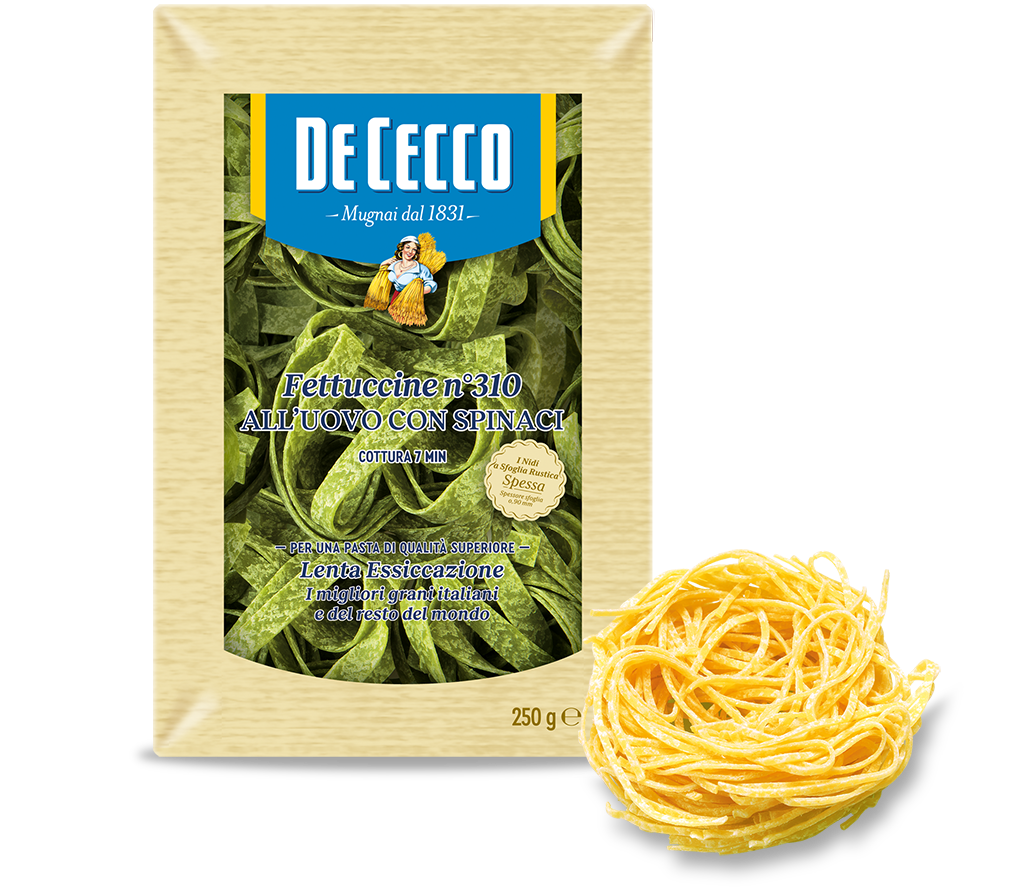 Fettuccine n° 310 all'uovo con spinaci