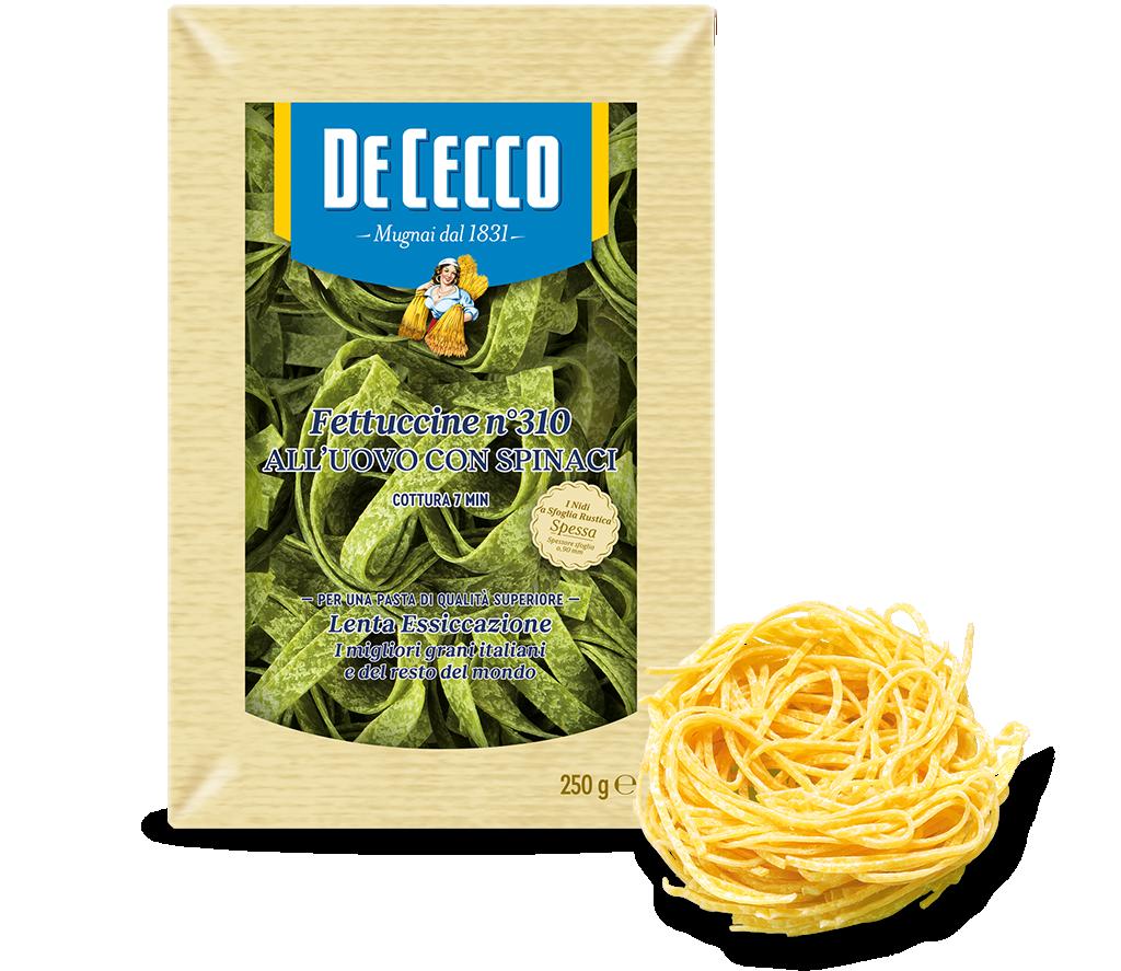Fettuccine n° 310 all'uovo con spinaci