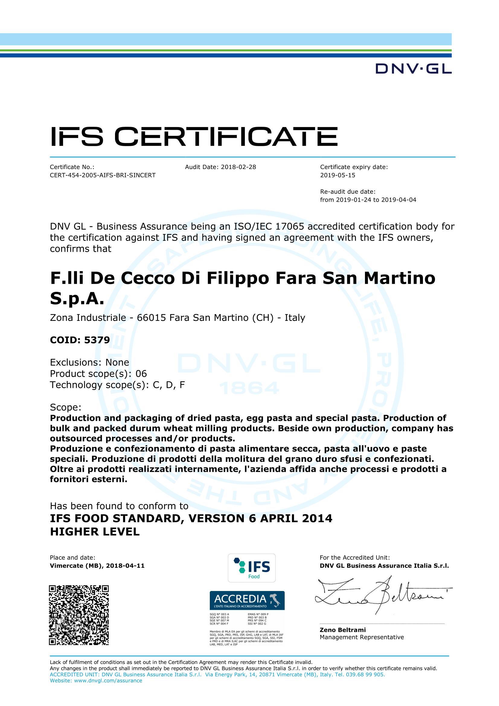 Ifs Standard Pdf