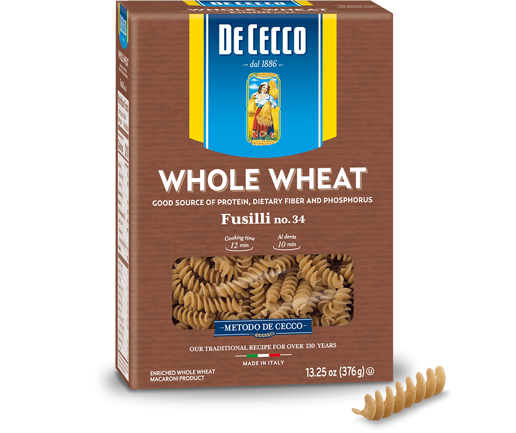 Fusilli no. 34 100% Whole Wheat