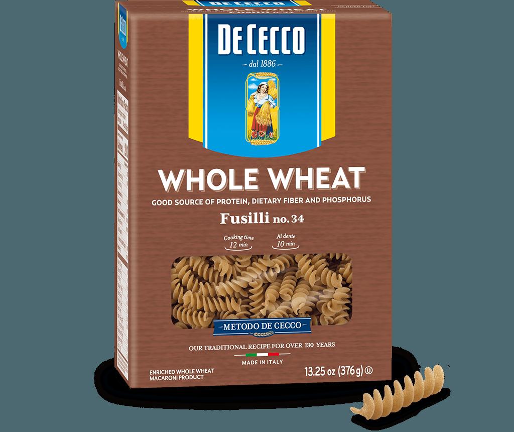 Fusilli no. 34 100% Whole Wheat
