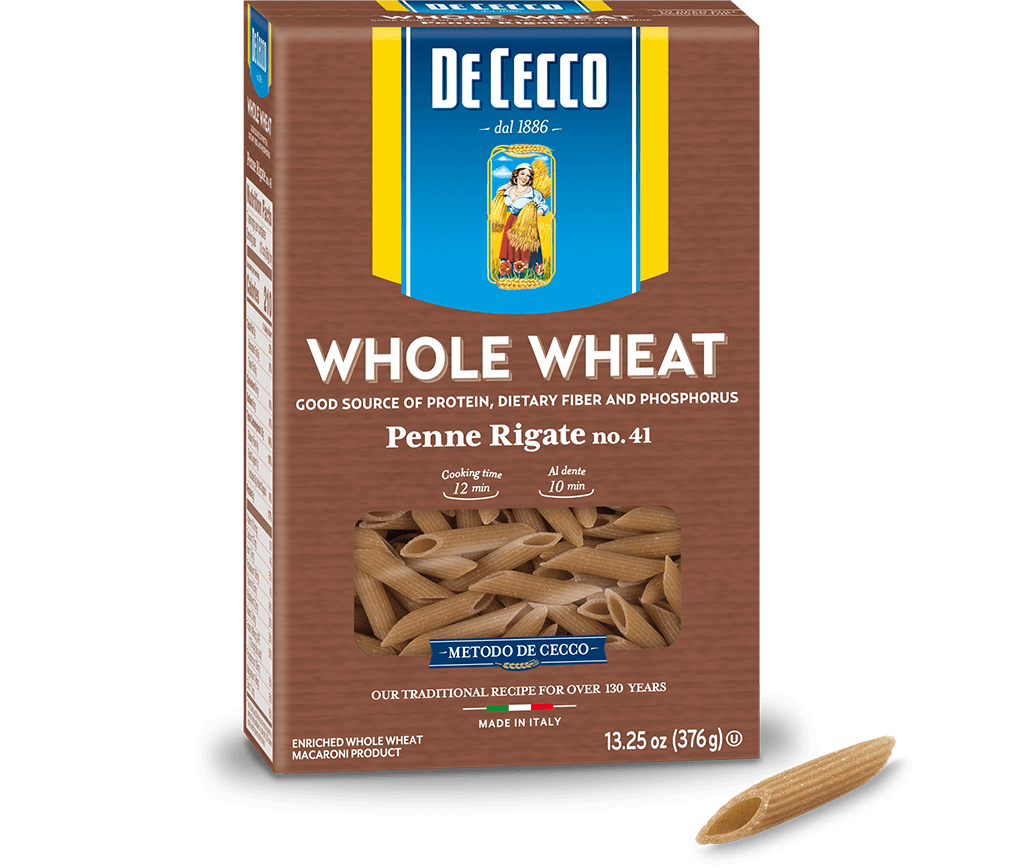 Penne Rigate no. 41 100% Whole Wheat