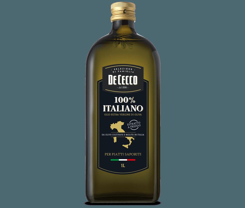 100% Italiano<br>Olio extra vergine di Oliva