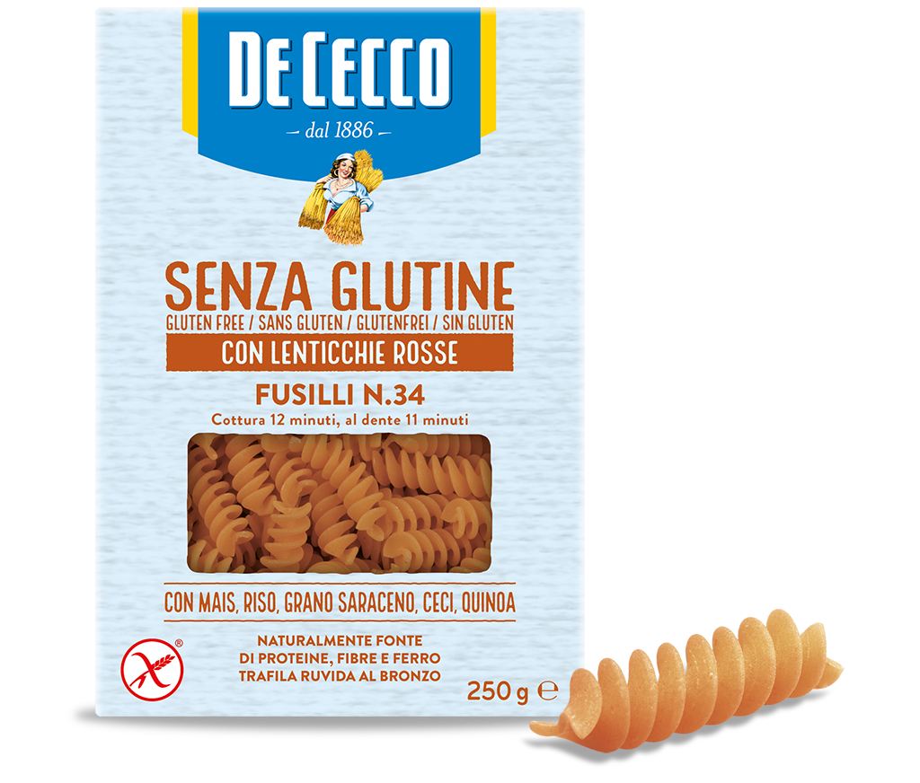Fusilli n° 34 - Gluten-Free, made with Red Lentils